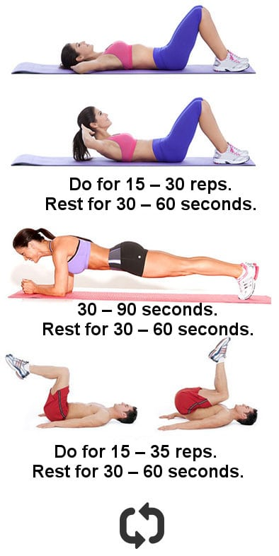 Fast ab workout at home