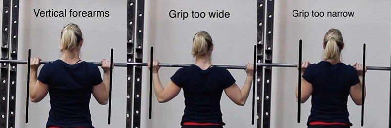 Shoulder press grip