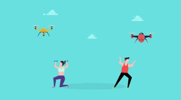 drones fitness