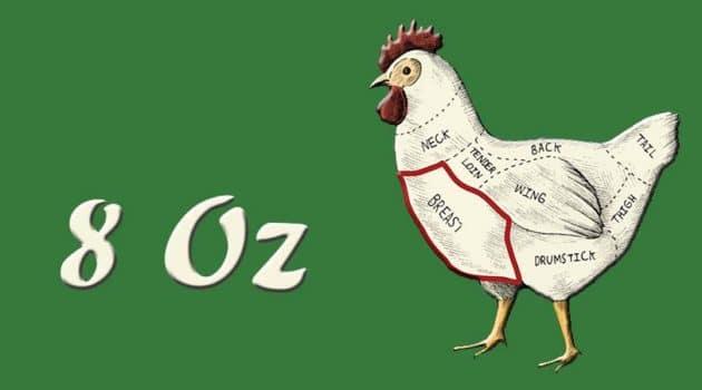 8 oz chicken breast protein