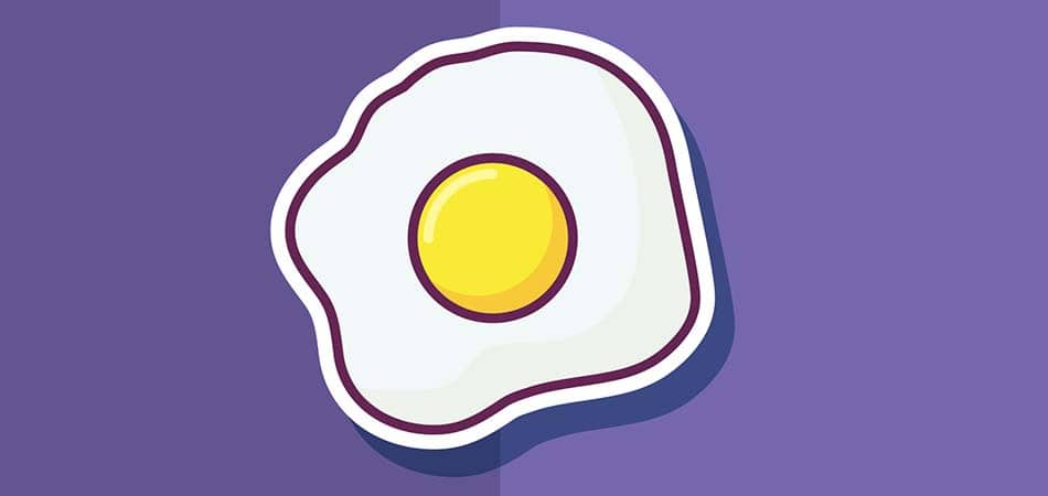 Saturated fat in eggs