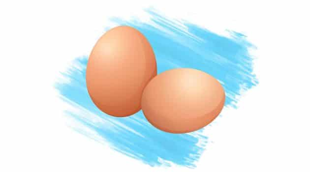 calories in two eggs