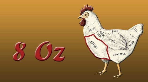 8 oz chicken breast calories