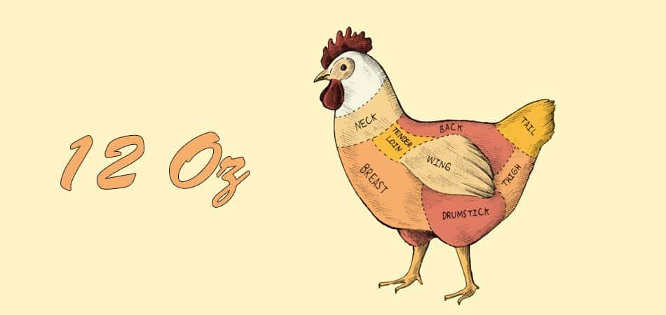 12 oz chicken breast protein