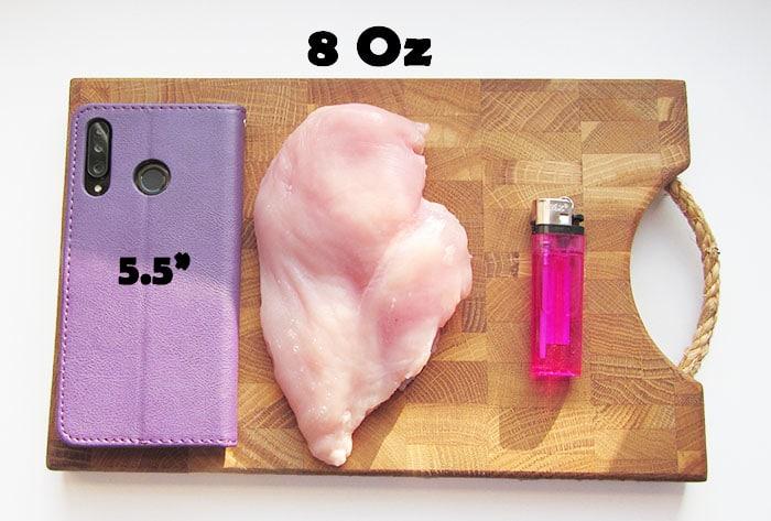 8 oz chicken breast size