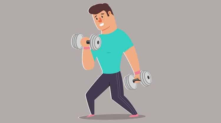 biceps home workout with dumbbells