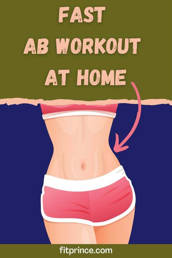 Fast ab workout at home pin.